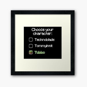 Choose your character - Tubbo Framed Art Print RB1506 product Offical Tubbo Merch