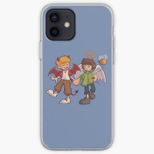 Tommy and Tubbo Angel/Devil iPhone Soft Case RB1506 product Offical Tubbo Merch
