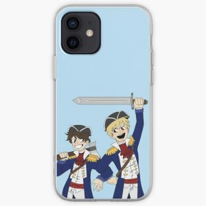 tommy and tubbo pog (lmanberg ver.) iPhone Soft Case RB1506 product Offical Tubbo Merch