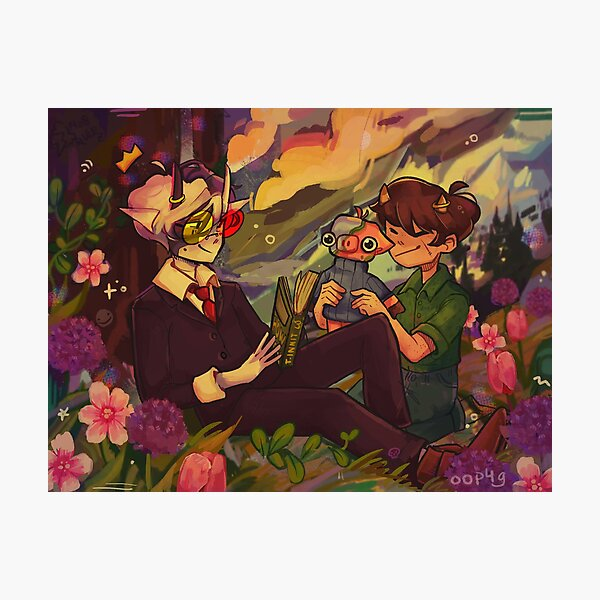 Ranboo Tubbo Michael in de Flowers Photographic Print RB1506 product Offical Tubbo Merch