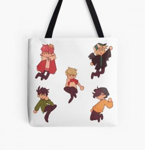 Sleppy Bois aka Techno, Tubbo, PHILZA, Tommy and Wilbur All Over Print Tote Bag RB1506 product Offical Tubbo Merch