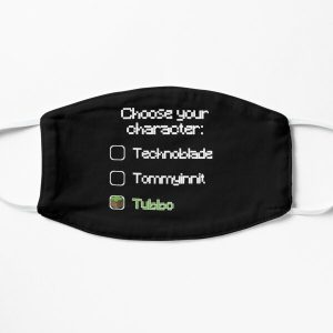 Choose your character - Tubbo Flat Mask RB1506 product Offical Tubbo Merch