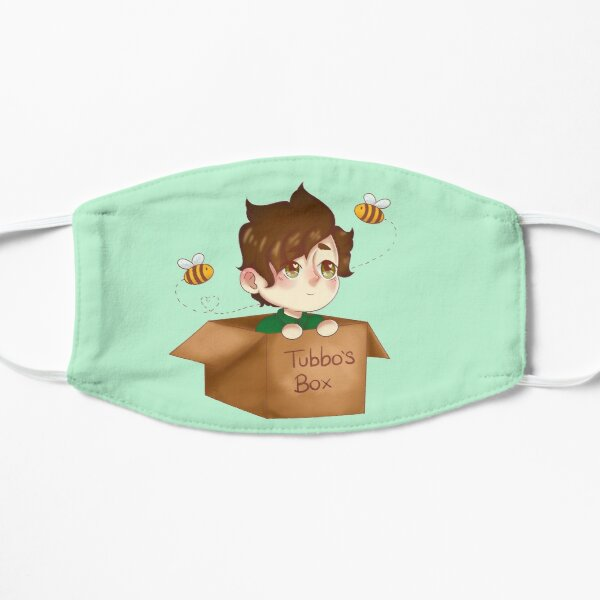 tubbo in a box Flat Mask RB1506 product Offical Tubbo Merch