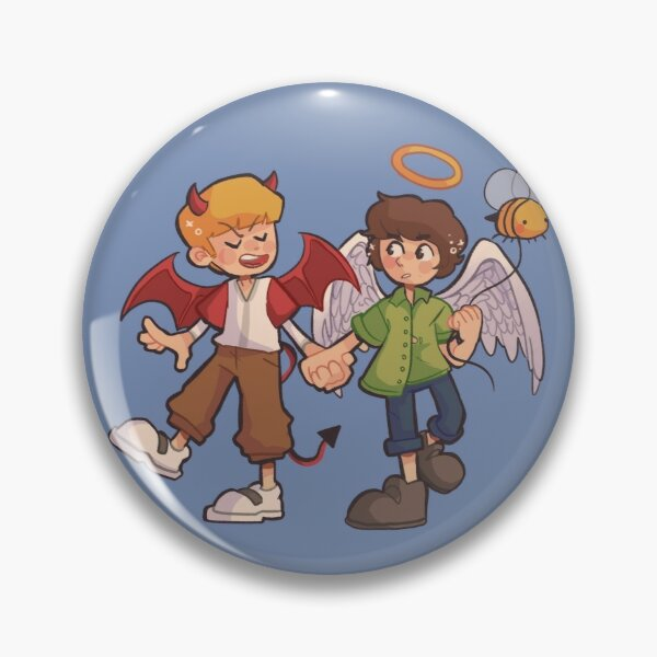 Tommy and Tubbo Angel/Devil Pin RB1506 product Offical Tubbo Merch