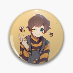 Tubbo with bees art Pin RB1506 product Offical Tubbo Merch